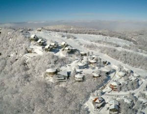 Photo of Beech Mountain courtesy the drone of Jordan Nelson of NelsonAerials.com