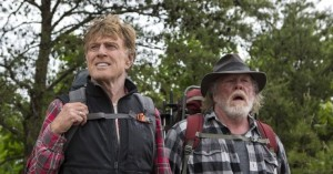 Bryson (Robert Redford) and Katz (Nick Nolte) upon cresting a ridge and viewing the vast Smokies.