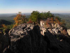 Fall atop the Pinnacle at Crowder's Mountain. Photo courtesy N.C. State Parks.