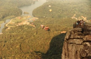 The view from atop Chimney Rock (photo courtesy N.C. State Parks)