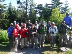 You could be bundled up for Saturday's hike like this group was for a late June hike in the Black Mountains.