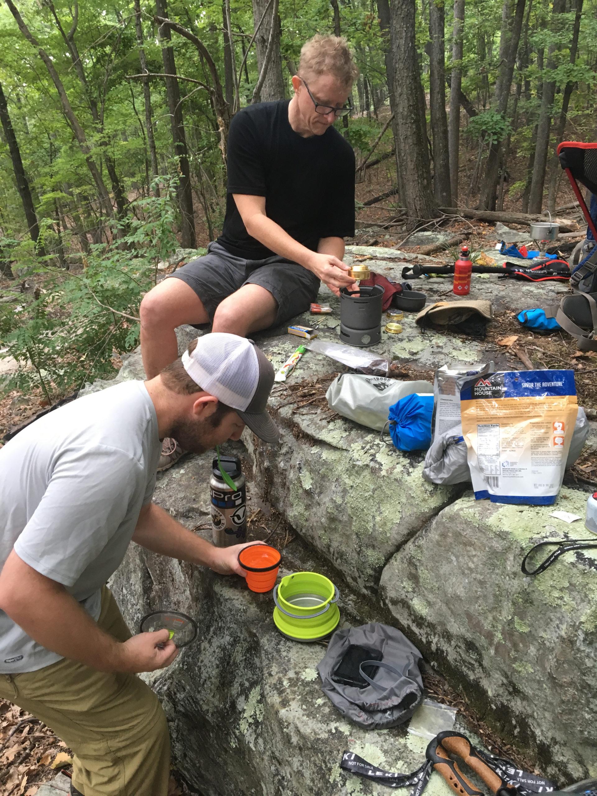 Hungry black bears close campsites