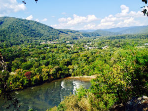 French Broad River Valley, from Lover's Leap on AT above Hot Springs