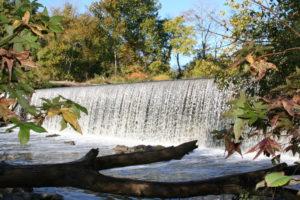 The Haw River cascading at Great Bend Park (photo courtesy Burlington Recreation & Parks)