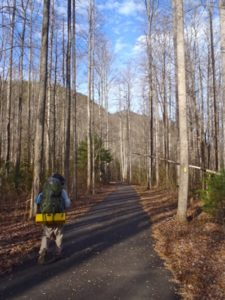 The Nantahala Bikeway offers a nice respite for hikers and backpackers on the North Carolina Bartram Trail.