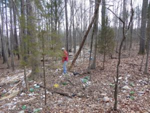 Trash along the MST at Falls Lake - Randy Jones photographer