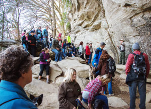 A ranger tells the story of the rock, at Raven Rock