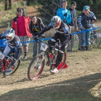 Dual slalom at last year's Collegiate Nationals at Beech Mountain. Photo by Weldon Weaver.