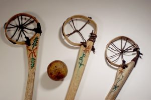 Early lacrosse equipment