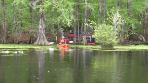 The paddle-in campground at Merchants Millpond
