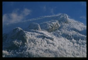 A snowy Grandfather Mountain (photo courtesy learnnc.org)